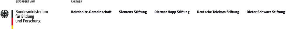 Gefördert vom Bundesministerium für Bildung und Forschung / Eine Inititive von Helmholtz-Gemeinschaft, McKinsey & Company, Siemens Stiftung, Dietmar Hopp Stiftung